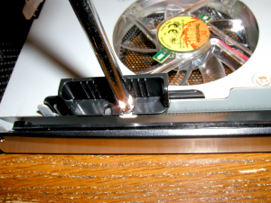 Removing hard disk holding pins.