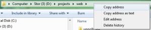 Windows 7 Address Bar (Explorer)