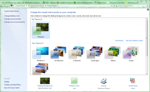 Windows 7 Display Settings: Personalization