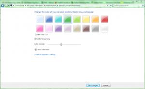 Windows 7 Display Settings: Window Color