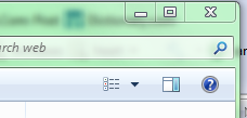 The other side of the Windows 7 Explorer toolbar...