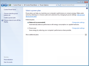 Windows 7 Power Management: Profiles