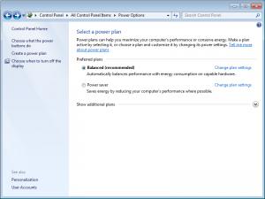 Windows 7 Power Management: Profiles