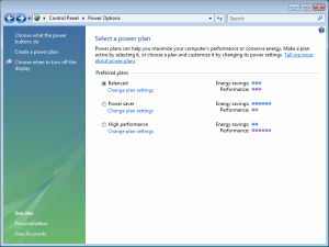 Windows Vista Power Management: Profiles