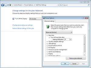 Windows Vista Power Management: Settings