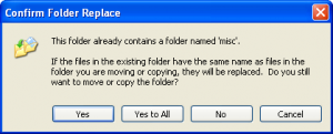 Windows XP Copy Dialog