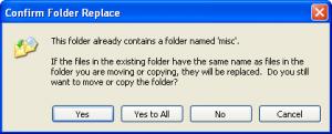 Windows XP Copy Dialog