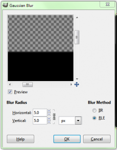 Selecting a small value for the Gaussian blur can limit spill over.