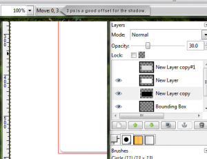 Shadow Layer: Shifted, Moved, and Transparent (slightly).