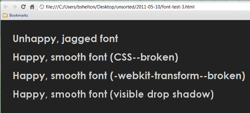 Force Font Smoothing in Chrome on Windows (Hack) - Benjamin